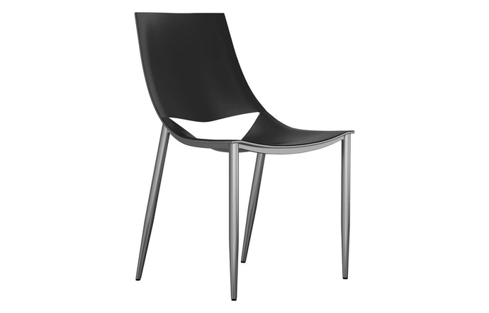 Sloane Dining Chair by Modloft Black.