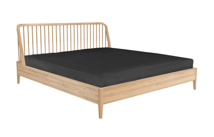 Spindle Oak Bed with Slats by Ethnicraft - Queen