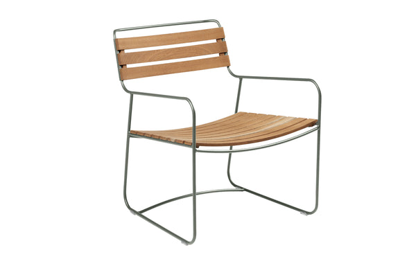 Surprising Teak Low Armchair by Fermob - Rosemary (matte textured)