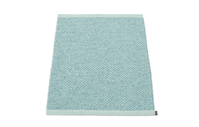 Svea Metallic Azurblue & Pale Turquoise Runner Rug by Pappelina - 24