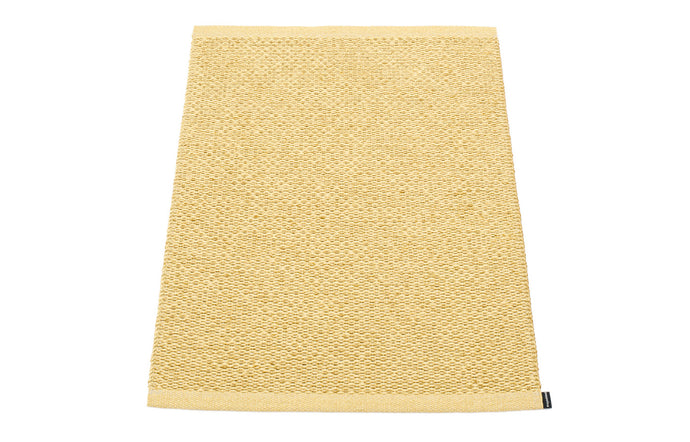 Svea Metallic Gold & Pale Yellow Runner Rug by Pappelina - 24