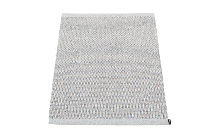 Svea Metallic Grey & Grey Runner Rug by Pappelina - 24