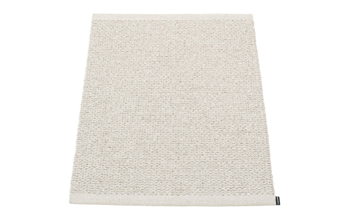 Svea Metallic Stone & Fossil Grey Runner Rug by Pappelina - 24