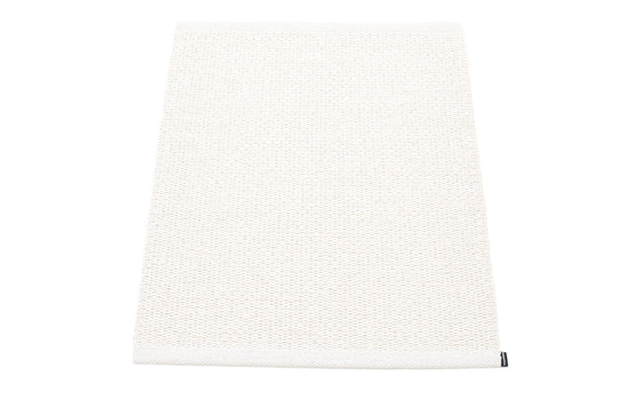 Svea Metallic White & White Runner Rug by Pappelina - 24