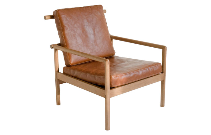 Ten Chair by Sun at Six - Umber Leather/Sienna Wood.