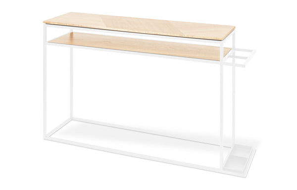 Tobias Console Table by Gus Modern - Blonde Ash White