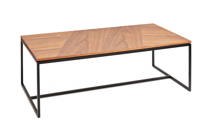 Tobias Rectangle Coffee Table by Gus Modern - Walnut Black