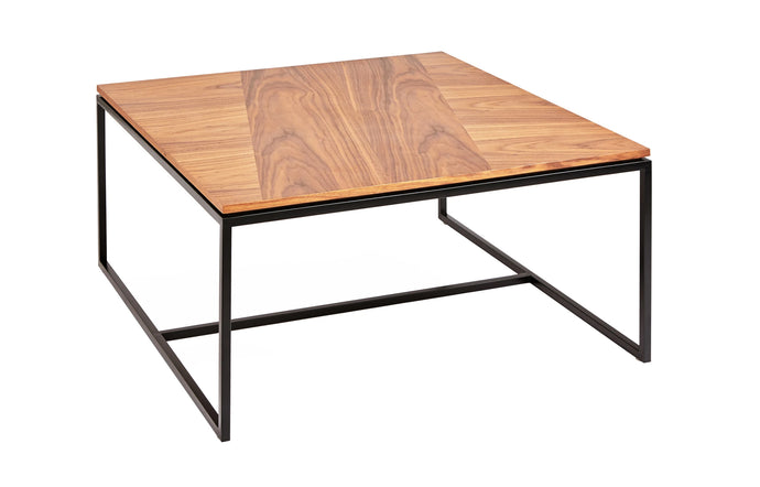 Tobias Square Coffee Table by Gus Modern - Walnut Black.