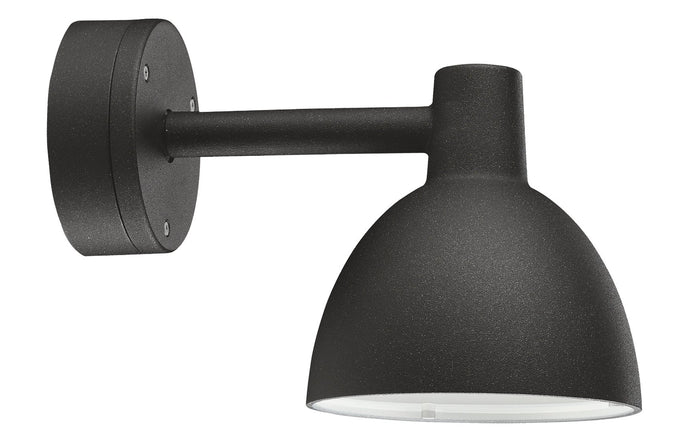 Toldbod Outdoor Wall Lamp by Louis Poulsen - Black Aluminum with Textured.