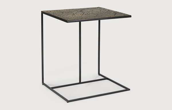 Triptic Lava Taupe Side Table by Ethnicraft.
