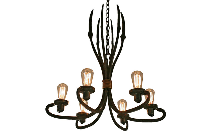 James De Wulf Triton Chandelier by De Wulf - Forged Iron.