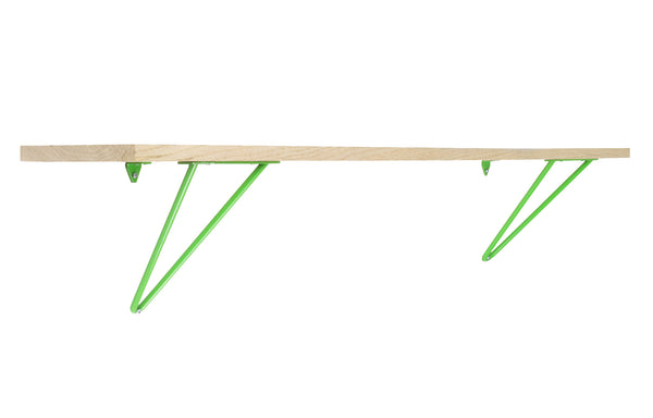 Adams Shelf Brackets by Tronk Design - Large, Green Powder Coated Steel.