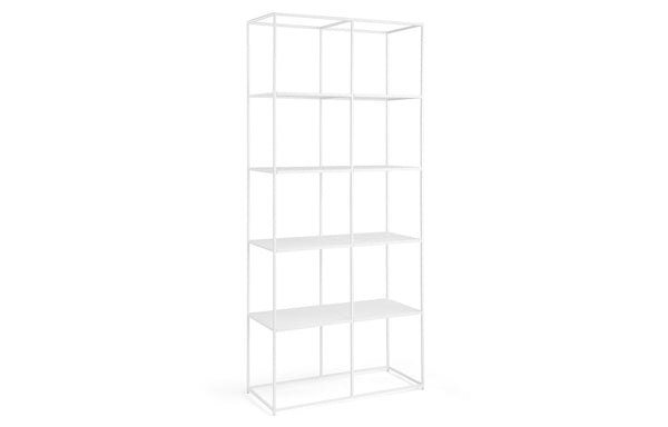 Urban Modular Shelving by m.a.d. - White Powder Coated Steel.