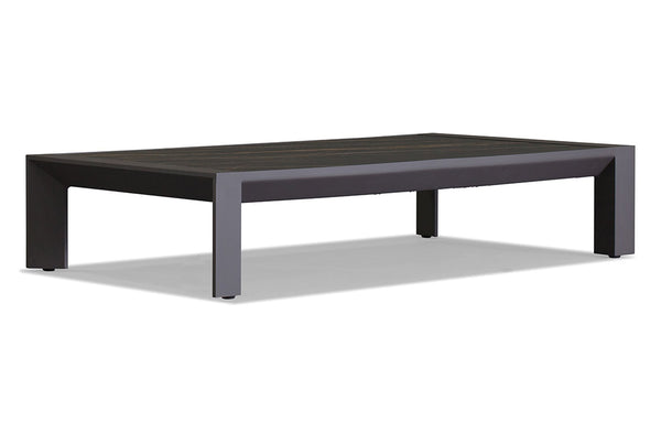 Vaucluse Coffee Table by Harbour - Asteroid Aluminum + Laminam Noir.