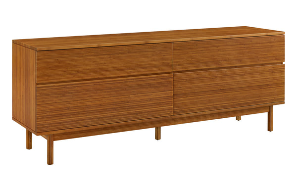 Ventura Amber 4 Drawer Double Dresser by Greenington - Amber Wood.