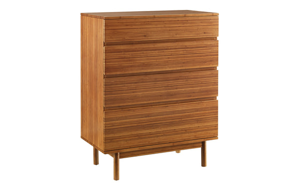 Ventura Amber 4 Drawer High Chest by Greenington - Amber Wood.