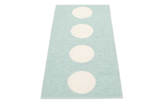 Vera Pale Turquoise & Vanilla Runner Rug by Pappelina - 28