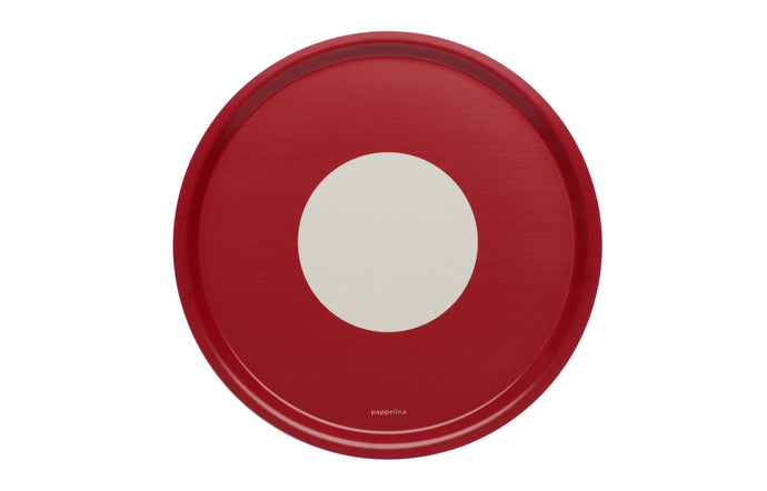 Vera Red Round Tray by Pappelina.