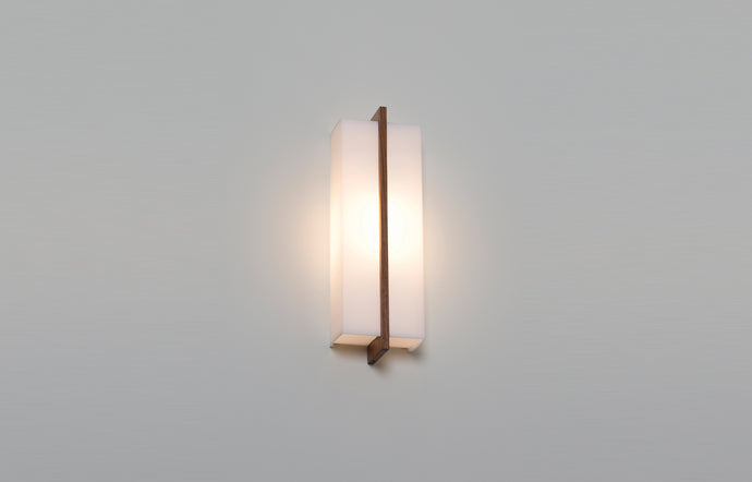 Via Sconce by Cerno - Walnut Wood, Candelabra Base E12 Socket.