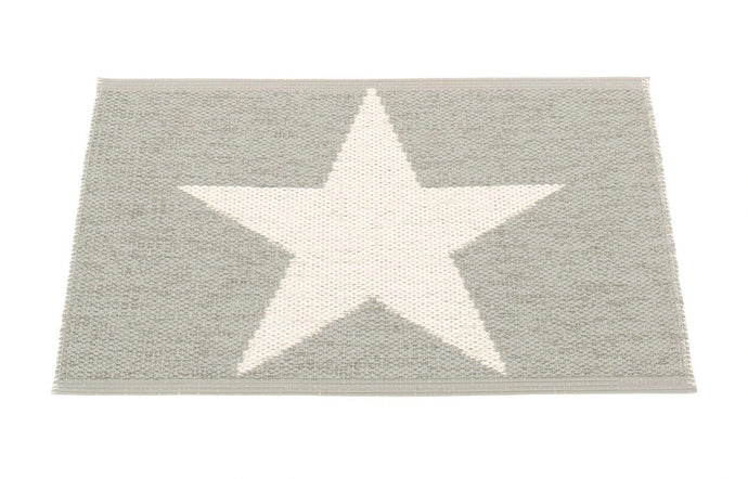 Viggo One Warm Grey & Vanilla Runner Rug by Pappelina - 28
