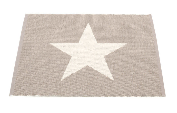 Viggo Small One Mud & Vanilla Rug by Pappelina.