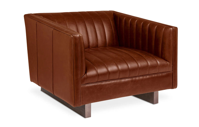 Wallace Chair by Gus Modern - Saddle Brown Leather.