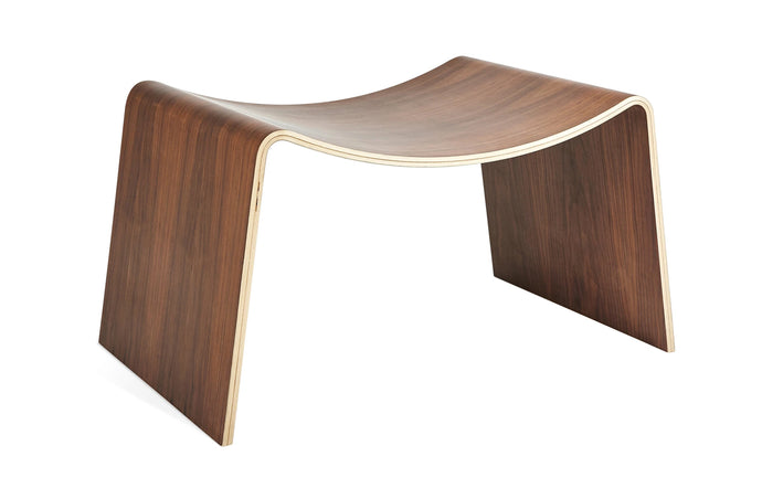 Wave Stool by Gus Modern - Walnut.