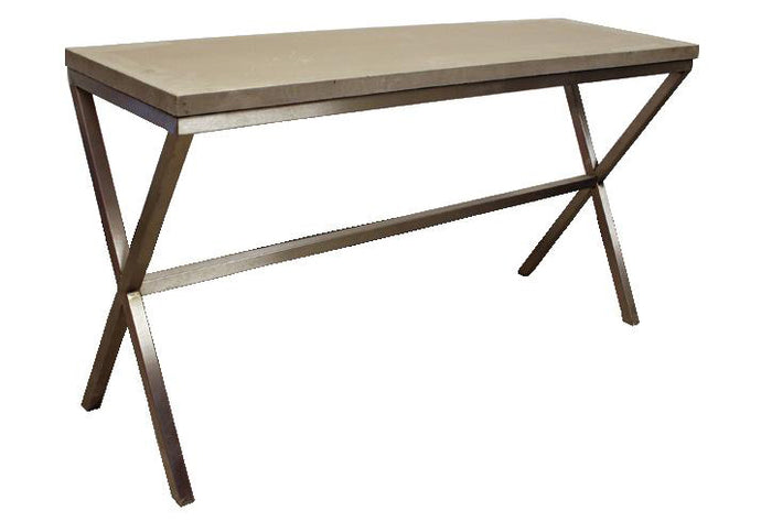 James De Wulf Xavier Console Table by DeWulf - Natural Tone Concrete.