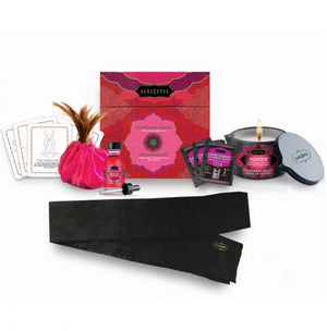 Kamasutra Treasure Trove Strawberry Massageset-Massage Olie-Purple Pleasure People - De beste vibrator kopen