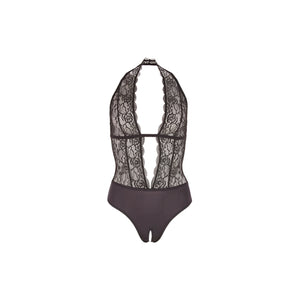 Kanten Body Met Open Kruis-Body-Purple Pleasure People