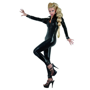 Latex Catsuit Met Ritsen-Catsuits-Purple Pleasure People