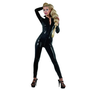 Latex Catsuit Met Ritsen-Purple Pleasure People
