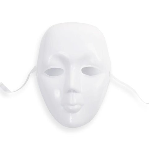 White Full Face Masquerade Mask - Purple Pleasure People - 1