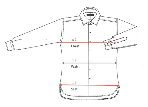Shirt Measurements (Front)