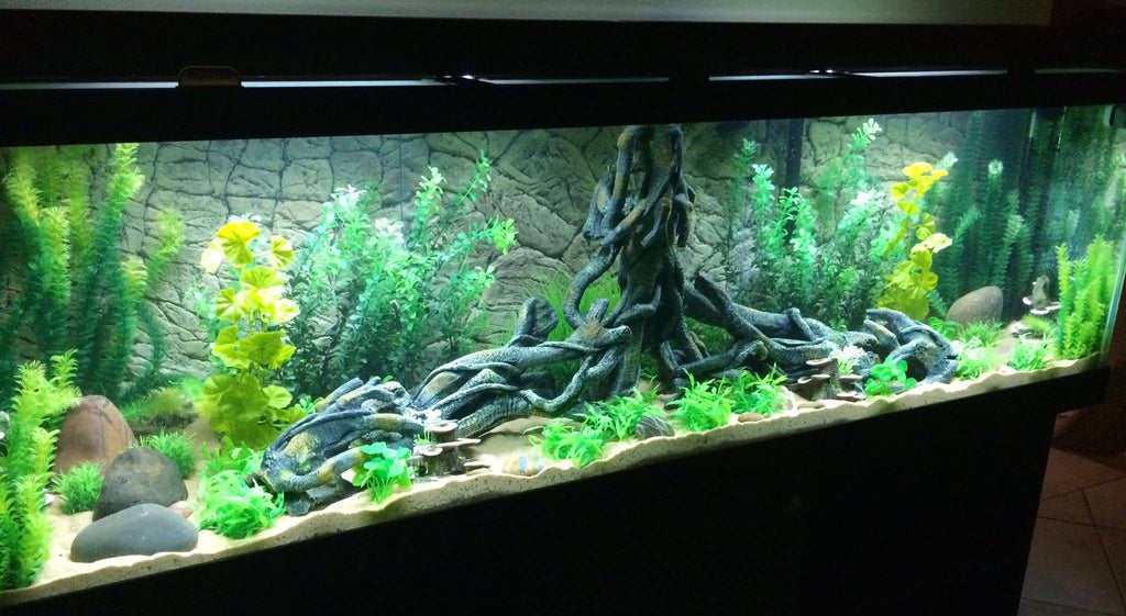 Jungle Bob 3D Aquarium Background 72x29 Inch For 150/210 Gallon 7804 Thin Beige