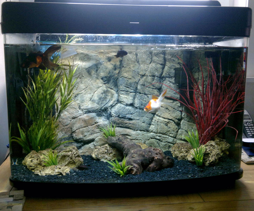 Jungle Bob 3D Aquarium Background 30x18 Inch For 29 Gallon Thin Beige 7785