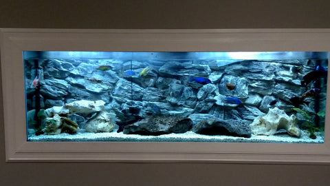 Jungle Bob Background 72x25 Inch For Aquarium 180 Gallon Rock Grey 7883