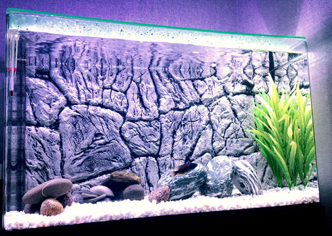 Image of Jungle Bob 3D Aquarium Background 48x25 Inch For 90/120 Gallon Thin Grey 8243