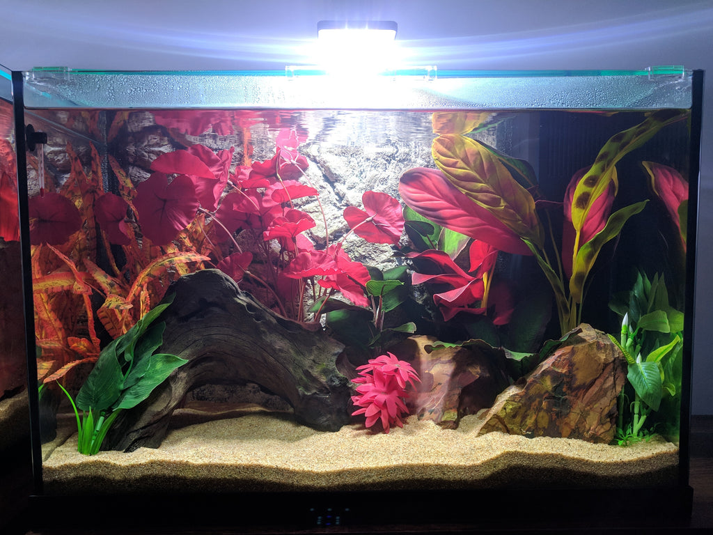 Jungle Bob 3D Aquarium Background 48x25 Inch For 90/120 Gallon Thin Grey 8243