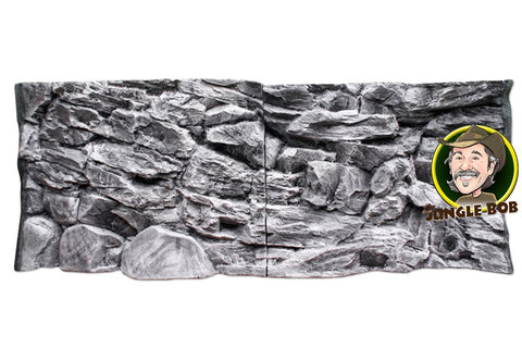 Image of Jungle Bob 3D Aquarium Background 48X13 Inch For 33 Gallon Rock Grey 7872