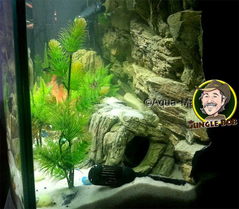 Image of Jungle Bob 3D Aquarium Background 30x21 Inch For 37 Gallon Beige Rock 7824