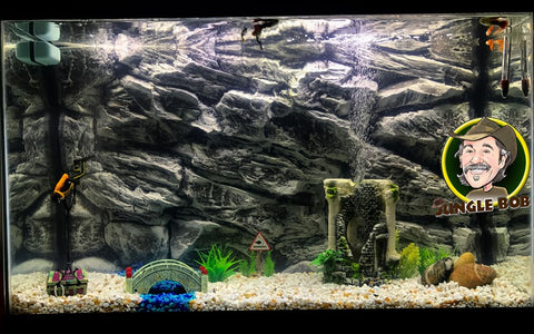 Jungle Bob 3D Aquarium Background 36x13 Inch For 30 Gallon Rock Grey 7846