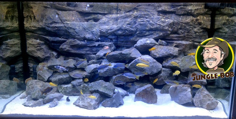 Jungle Bob 3D Aquarium Background 30x21 Inch For Aquarium 37 Gallon Rock Grey 7874