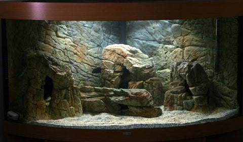 Jungle Bob Aquarium Cave Large Beige