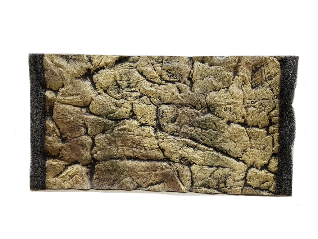 Jungle Bob 3D Aquarium Background 16X10 Inch For 5 Gallon Thin Beige 7777
