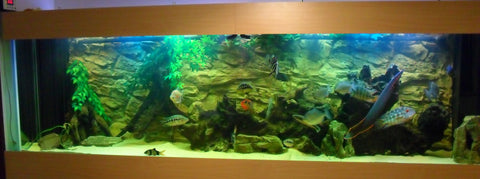 Image of Jungle Bob 3D Aquarium Background 72x29 Inch For 150/210 Gallon 7836 Beige Rock
