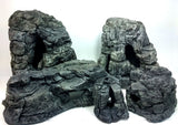 Jungle Bob Grey Aquarium Cave Bundle (Sm, Med, Lg, XL, XXL) 8810