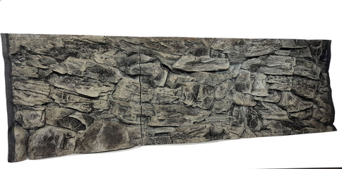 Jungle Bob 3D Aquarium Background 72x29 Inch For Aquarium 150/210 Gallon Rock Grey 7884