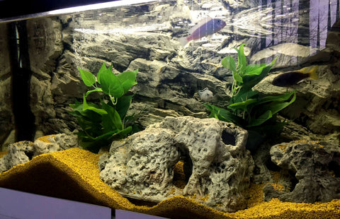 Jungle Bob 3D Aquarium Background 36x16 Inch For Aquarium 30 Gallon High Rock Grey 7891