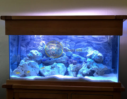 Jungle Bob 3D Aquarium Background 36x25 Inch For 65 Gallon Rock Grey 7880